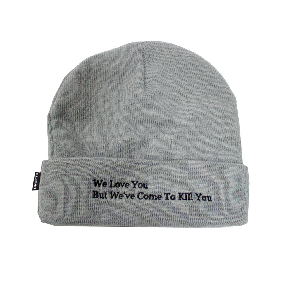 6a7ded64a Undefeated 5 Strike Combat UNDFTD Beanie knit hat Grey Heather