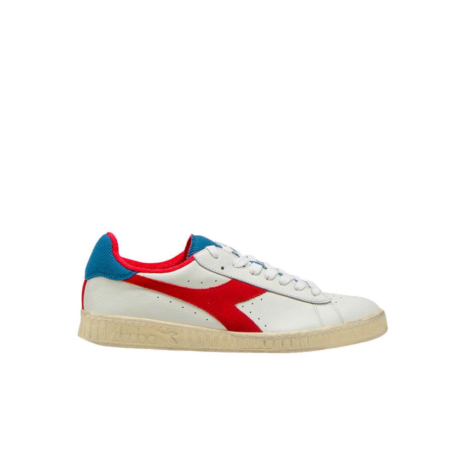 Diadora Sportswear GAME L LOW USED White / Dark Red