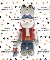 Medicom Toy Rabbrick King Kazma Summer Wars Bearbrick Set 100% 400%