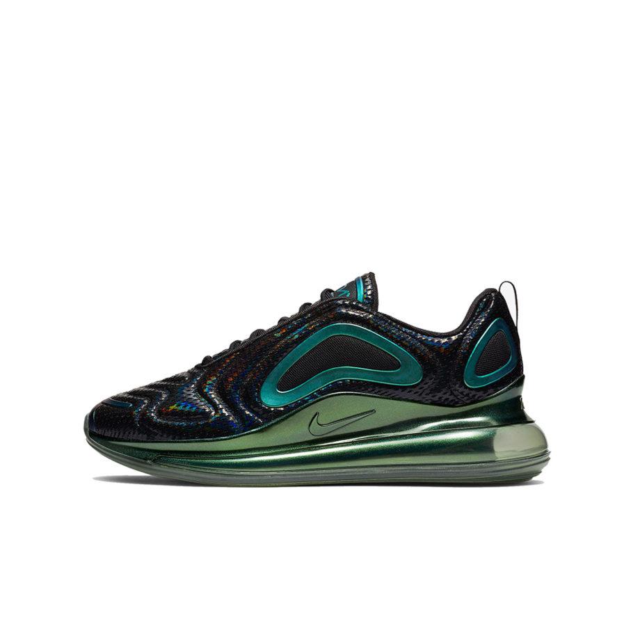 Nike Air Max 720 Sneakers Black / Black - Metallic Silver