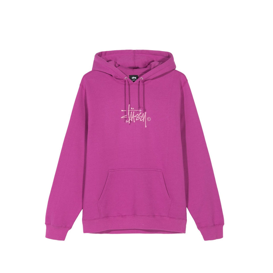 Stussy Basic Copyright Applique Hood / Felpa Con Cappuccio Berry
