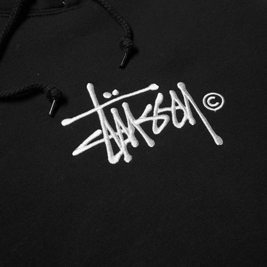 Stussy Basic Copyright Applique Hood / Felpa Con Cappuccio Black