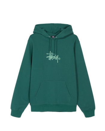 Stussy Basic Copyright Applique Hood / Felpa Con Cappuccio Green
