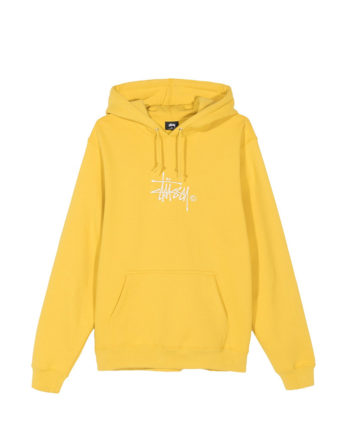 Stussy Basic Copyright Applique Hood / Felpa Con Cappuccio Yellow