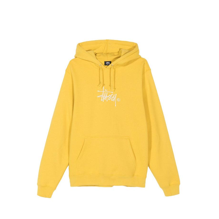 Stussy Basic Copyright Applique Hood / Felpa Con Cappuccio Yellow