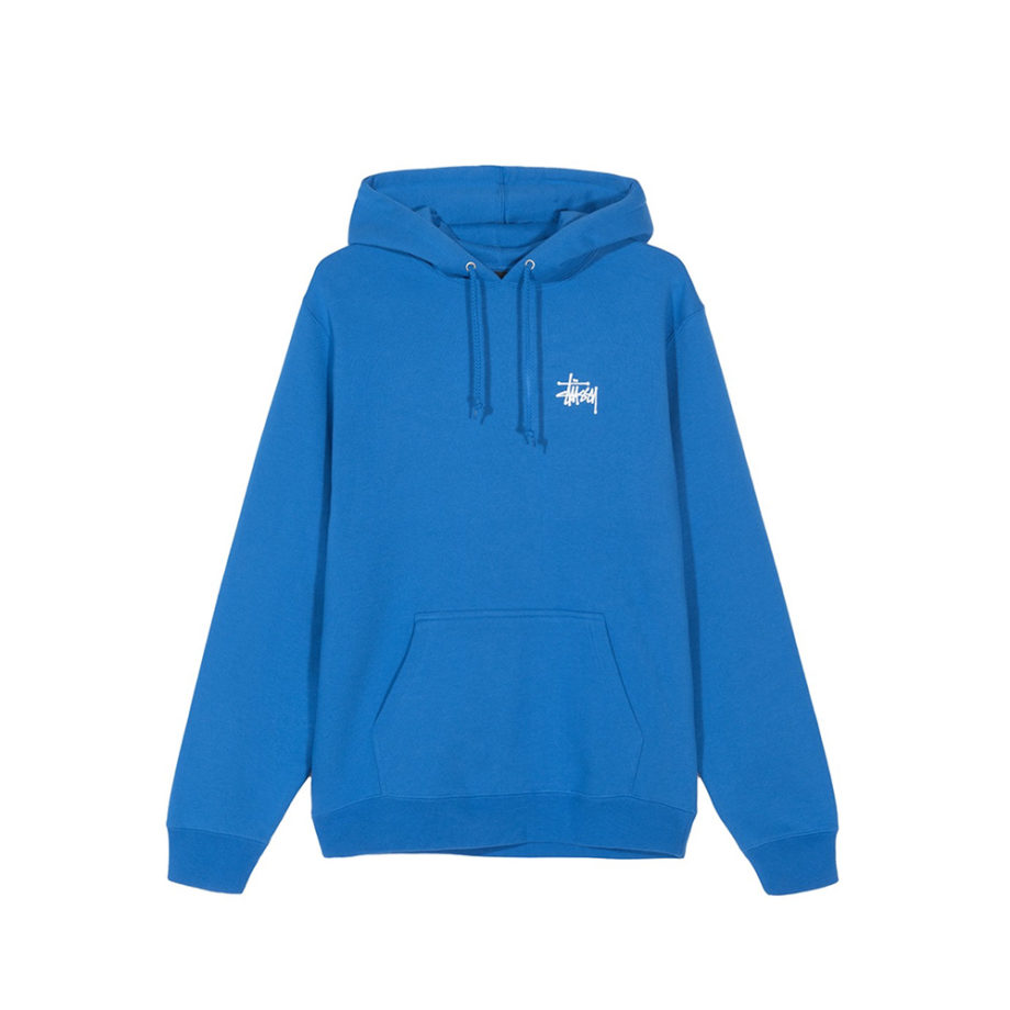Stussy Basic Hood / Felpa Con Cappuccio Blue
