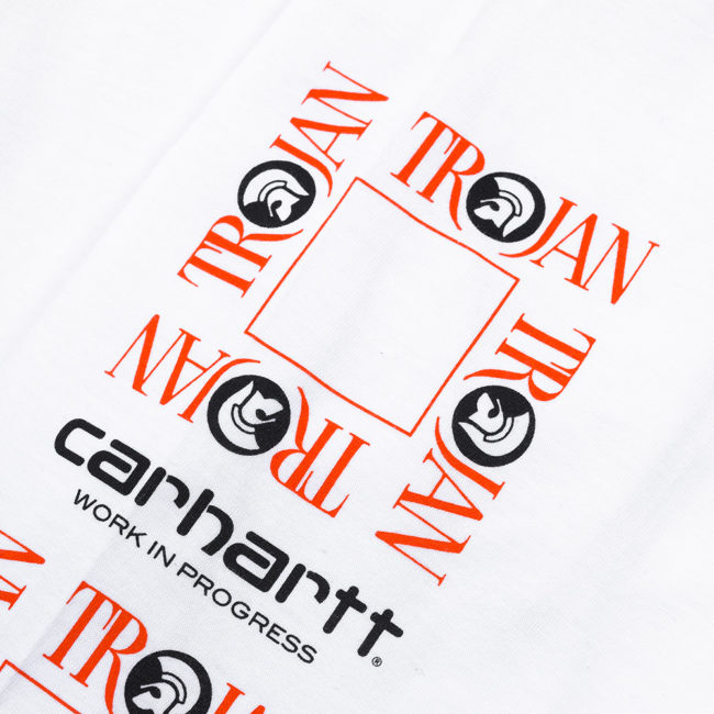 Carhartt Wip X Trojan Boss Sound Long Sleeve T-Shirt White