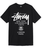 Stussy World Tour Tee Summer 2017 Black