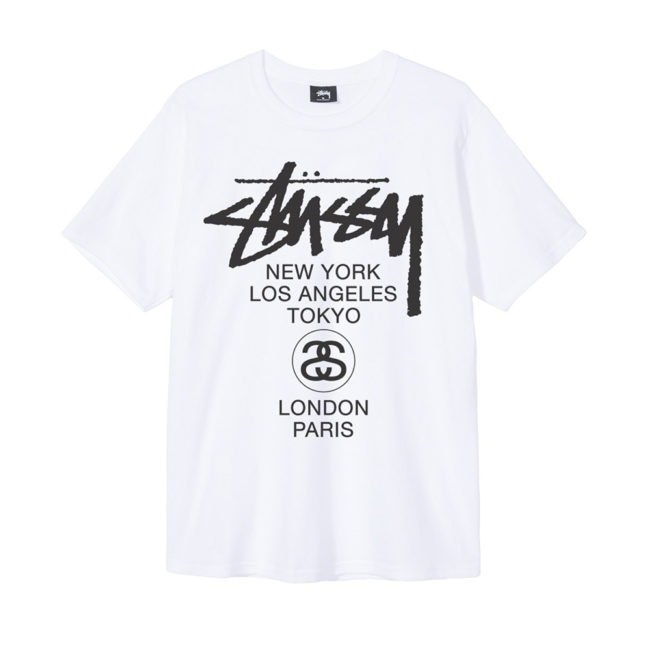 Stussy World Tour Tee Summer 2017 White
