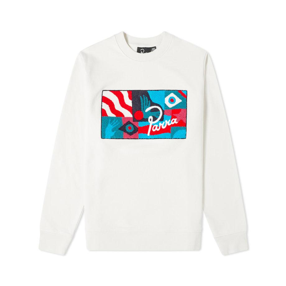 By Parra Grab The Flag Crewneck Sweatshirt White