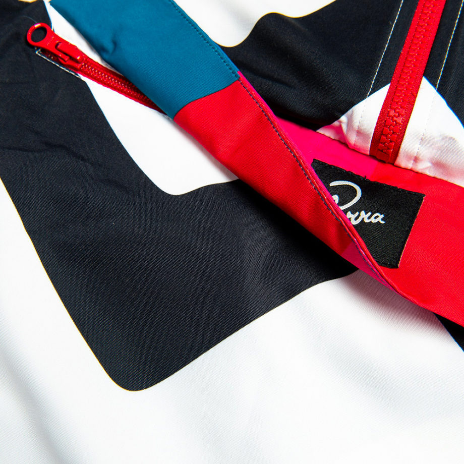 By Parra Vase Mountain Stripes Windbreaker Jacket