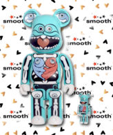Medicom Toy Ron English Bearbrick set 100% 400% Limited Edition 2007