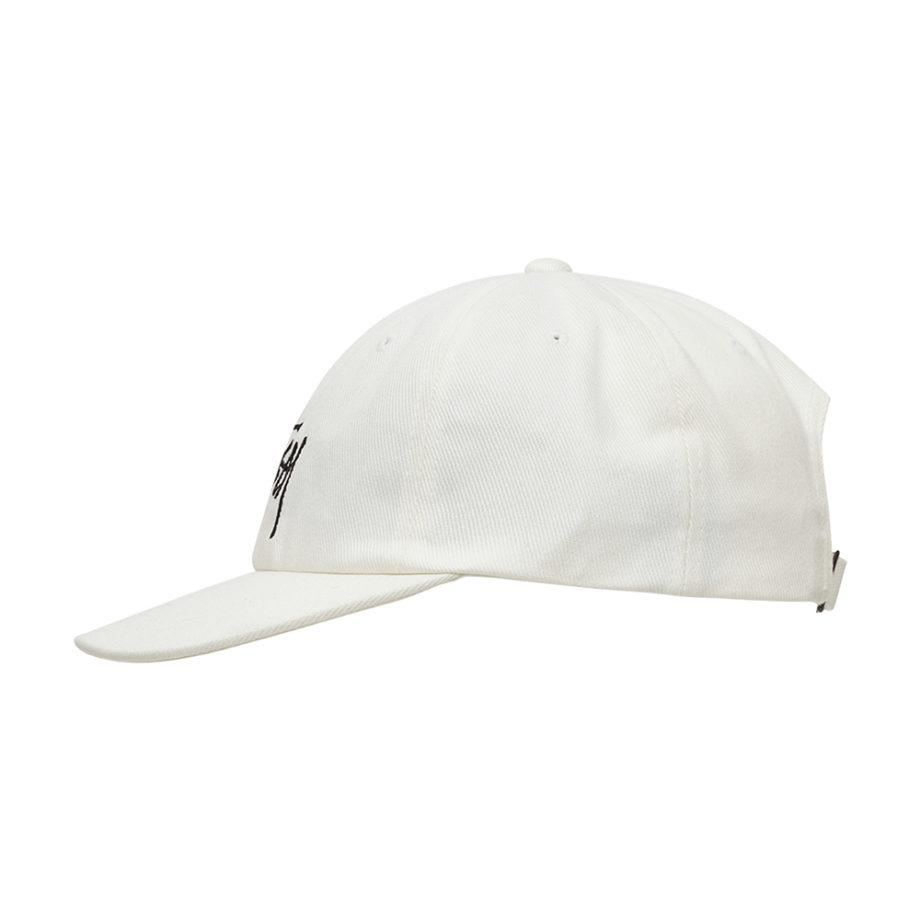 Stussy Big Logo Low Pro Cap White