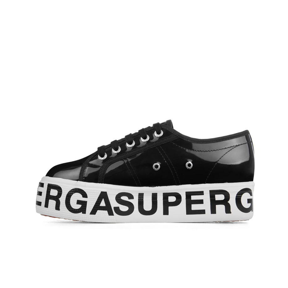 Superga 2790 COTTRANSPLETTERINGW Woman Shoes Black