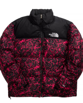 The North Face 1996 RETRO NUPTSE JACKET ROSE RED