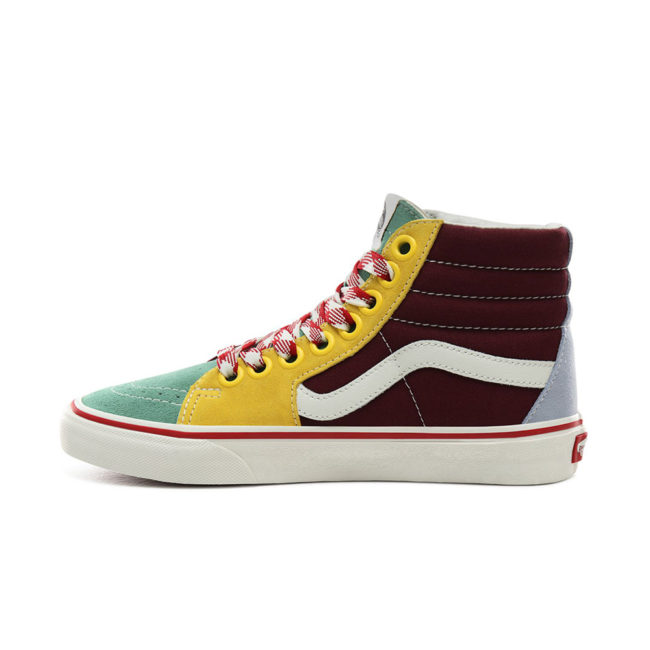 Vans Sk8-Hi Frayed Laces Shoes Creme de Menthe/Marshmallow