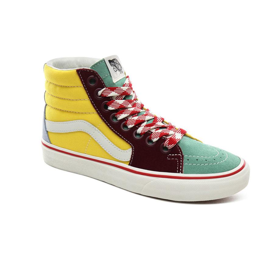 Vans Sk8-Hi Frayed Laces Shoes Creme de Menthe/Marshmallow
