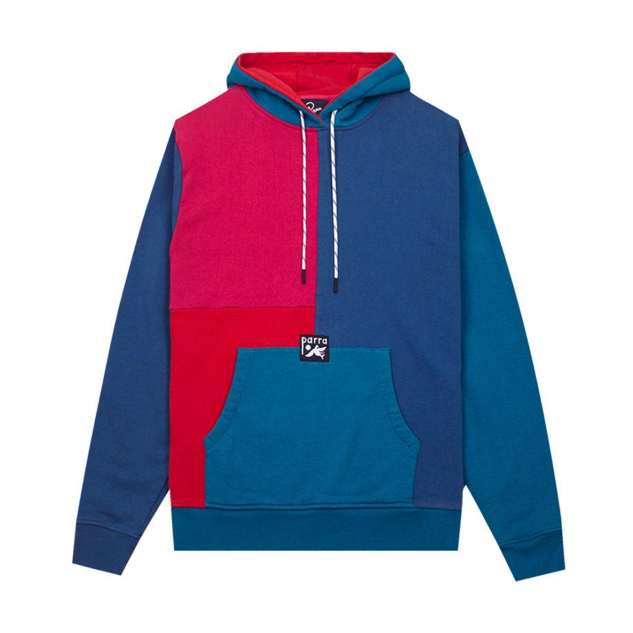 By Parra Colorblocked Hooded Sweatshirt Multicolor