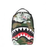 Sprayground Camo Money Shark Backpack / Zaino