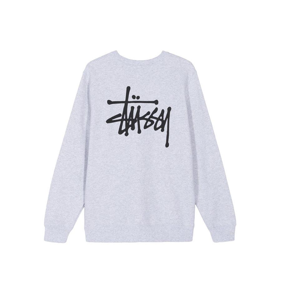 Stussy Basic Stussy Crew Sweatshirt / Felpa Ash Heather