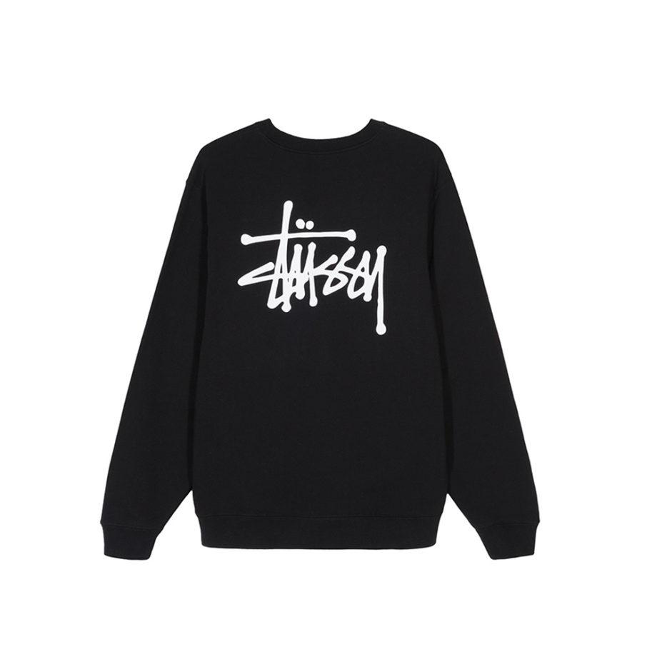 Stussy Basic Stussy Crew Sweatshirt / Felpa Black