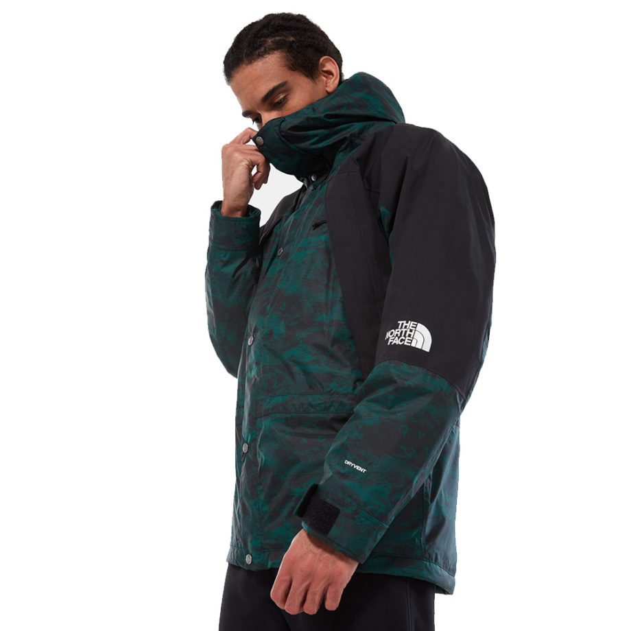 The North Face Mountain Light Dryvent Insulated Man Jacket Night Green Lunatic Print