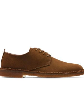 Clarks Desert London Man Shoes Cola Suede