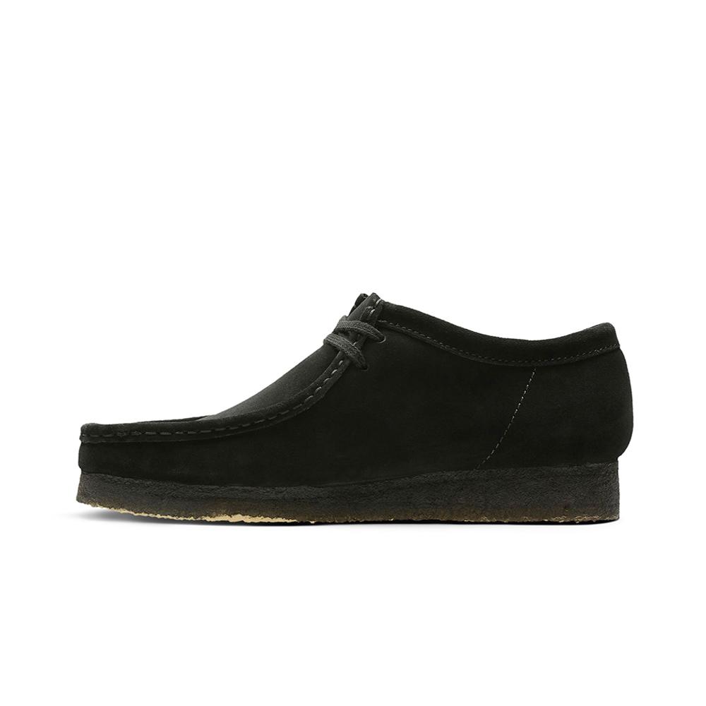 Clarks Originals Wallabee Black Suede Man Shoes