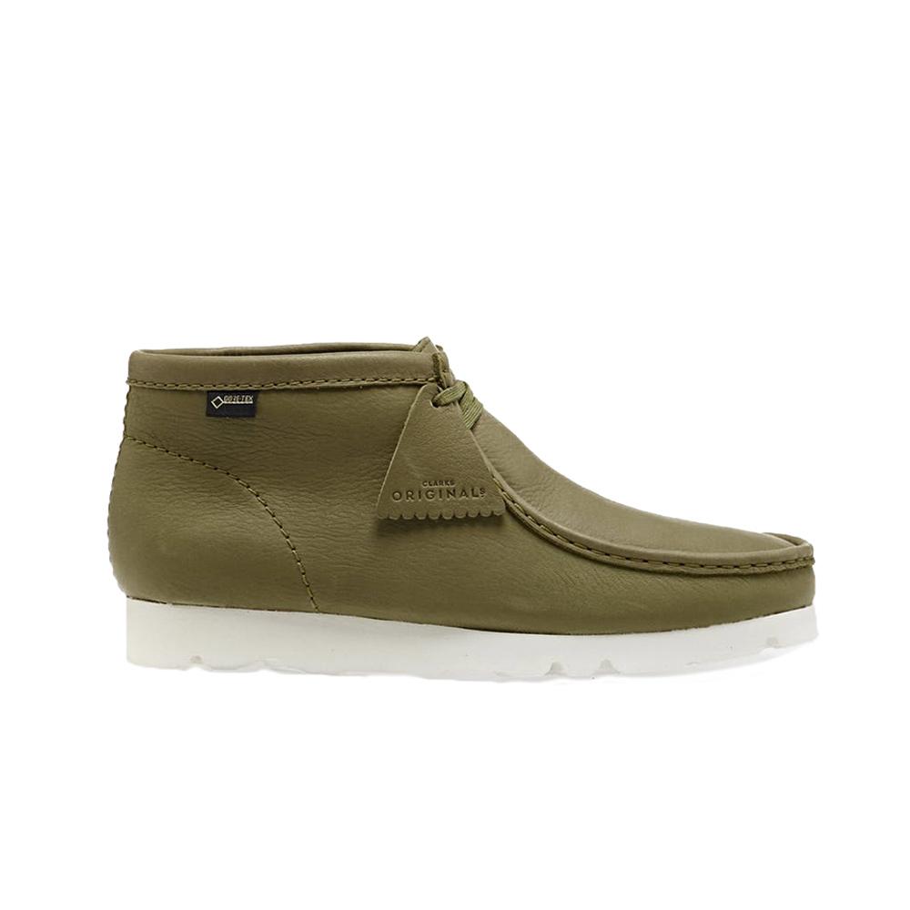 Clarks Originals Wallabee Boot Gore Tex Khaki Leather