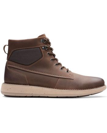 Clarks Un Larvik Peak Man Shoes Brown Leather