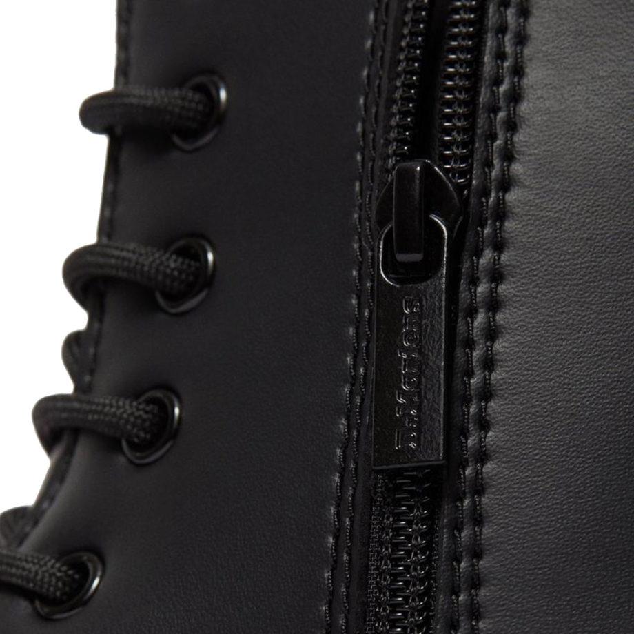 Dr. Martens Vegan Jadon II Mono Platform Boots Black Felix Rub Off