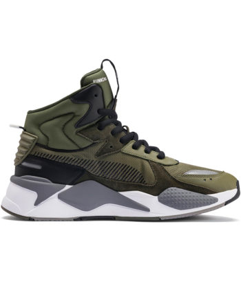 Puma RS-X Midtop Utility Man Sneakers Burnt Olive-Forest Night