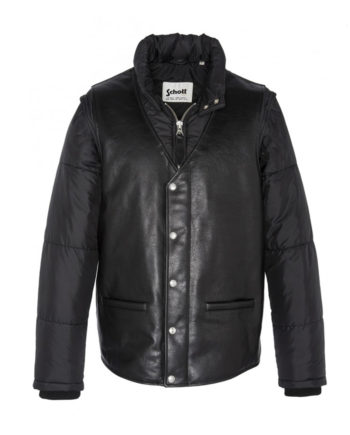 Schott Baltimore19 Bi-Materials CWU Jacket Black
