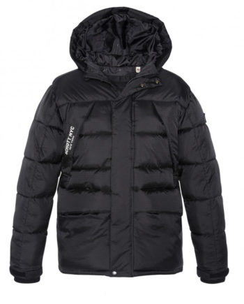 Schott Bear19 Hooded Oversize PARKA Jacket Blac