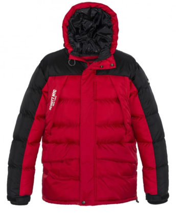 Schott Bear19 Hooded Oversize PARKA Jacket Red / Black