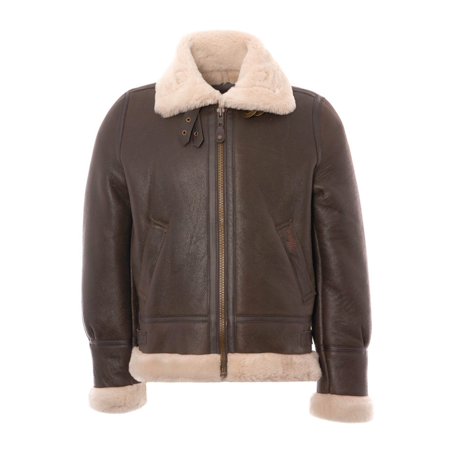 SCHOTT NYC LC1259 Bombardier Leather Flying Jacket Brown