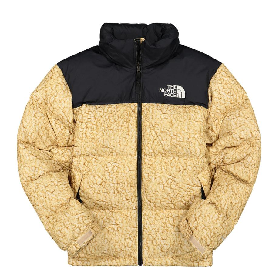 The North Face 1996 Retro Nuptse Jacket White Sherpa Print