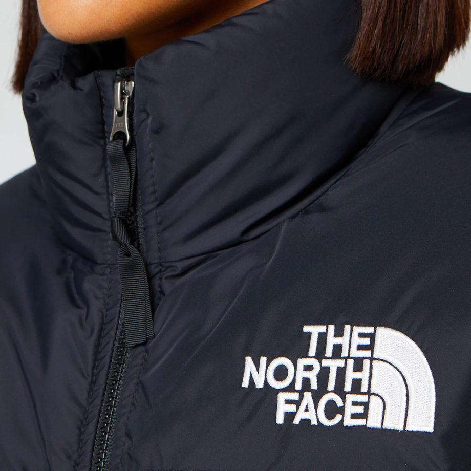 The North Face Nuptse Crop Woman Jacket BURNT OLIVE GREEN WAXED CAMO PRINT