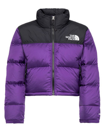 The North Face Women's Nuptse Cropped Down Jacket Hero Purple
