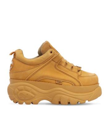 Buffalo London Woman Sneakers Low Beige Nabuk Leather