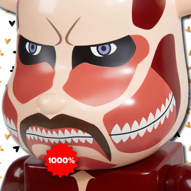 Medicom Toy Attack On Titan Colossal Titans Colossus Bearbrick 1000%