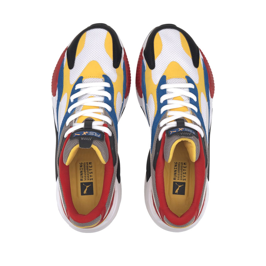 Puma RS-X3 Puzzle Man Sneakers White-Spectra Yellow-Black