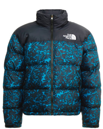 The North Face 1996 RETRO NUPTSE JACKET Blu Coral 1994 RAGE PRINT