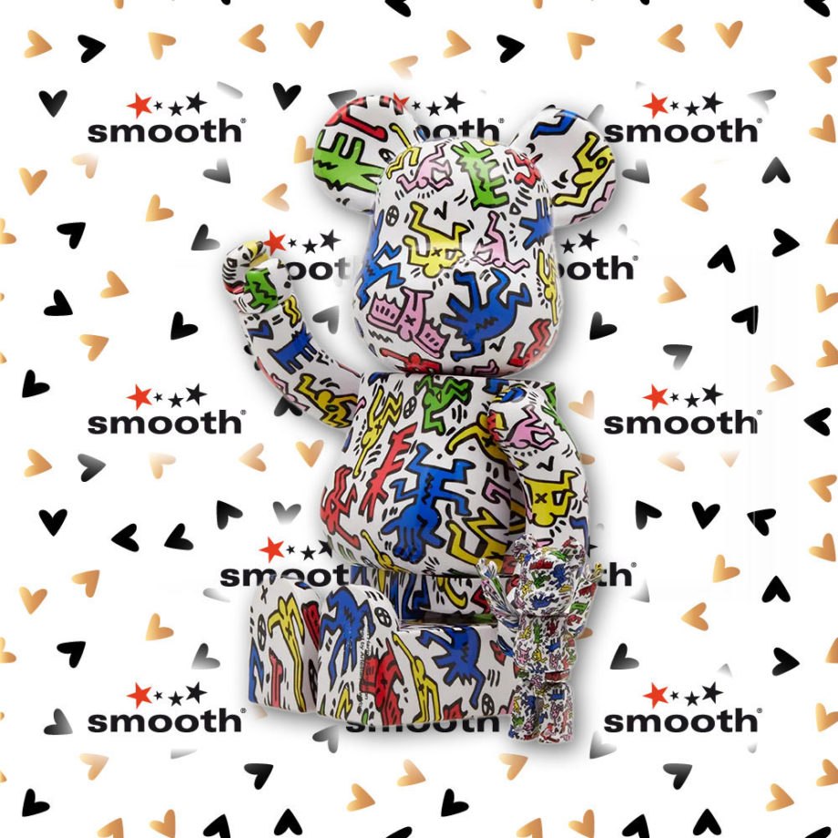 Medicom Toy Keith Haring Bearbrick set 100% 400% Dancing People Limited Edition