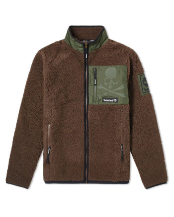 Timberland X Mastermind Fleece Jacket For Men Brown 0A28ZAN92