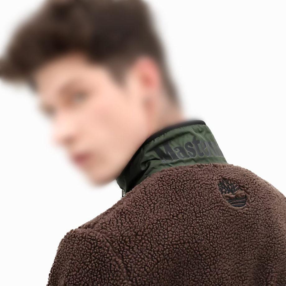 Timberland X Mastermind Fleece Jacket For Men Brown 0A28ZAN92