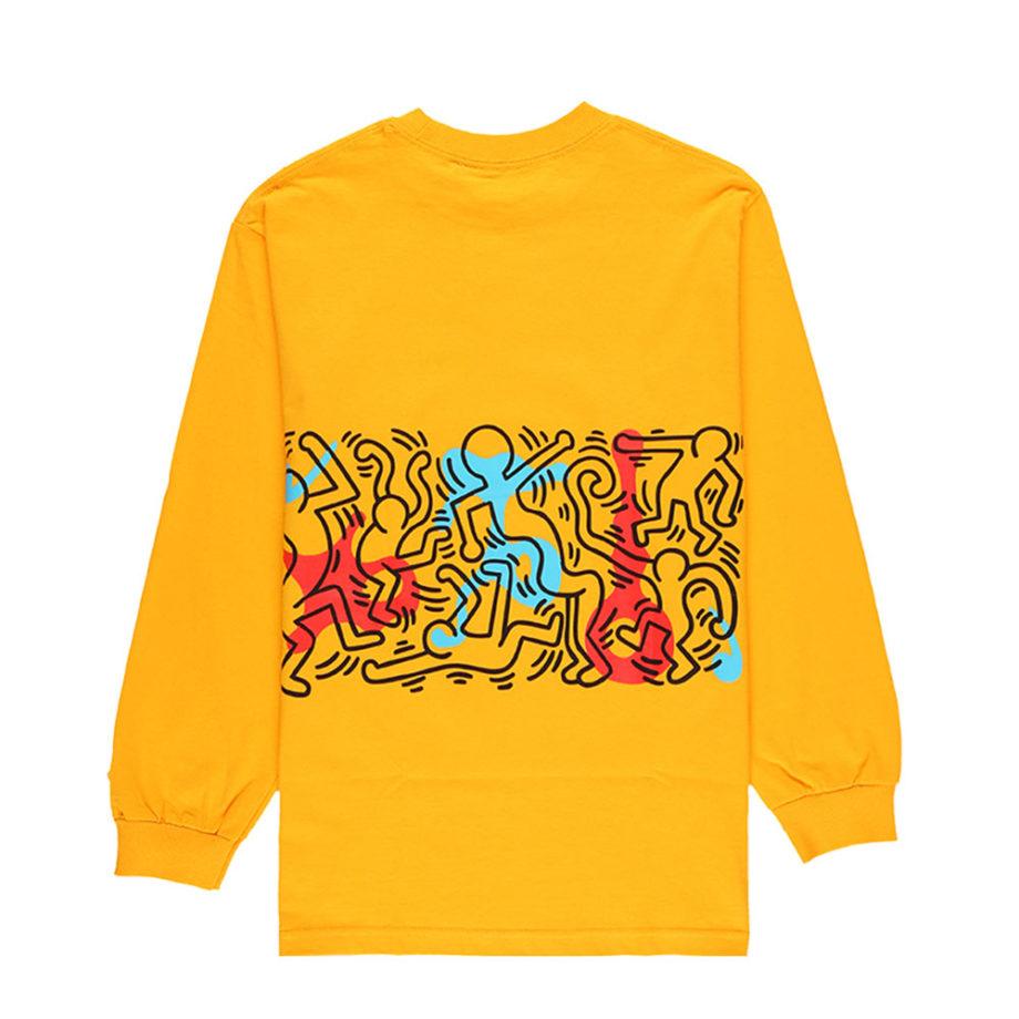 Diamond Supply Co. X Keith Haring Rhythm and Motion Longsleeve Tee Yellow