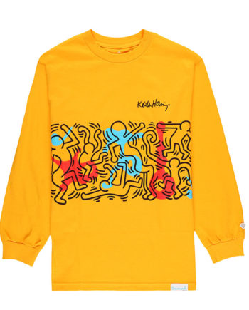 Diamond Supply Co. X Keith Haring Rhythm and Motion Longsleeve Tee Yellow