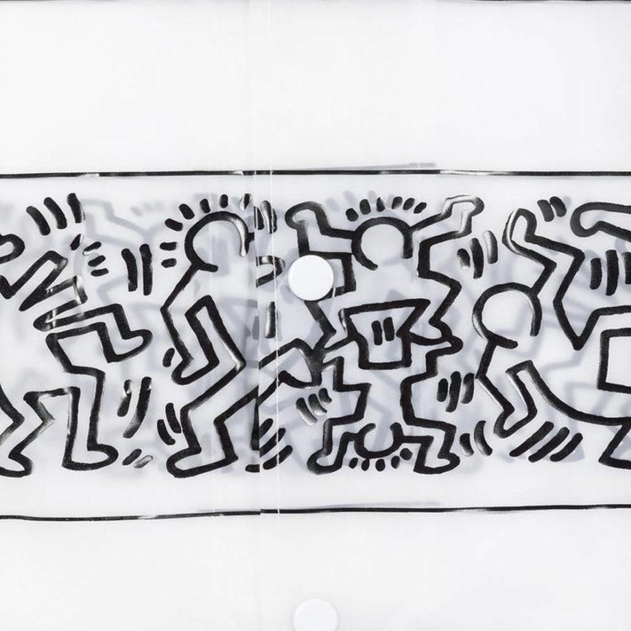 Diamond Supply Co. X Keith Haring Stripe Rain Coat Jacket
