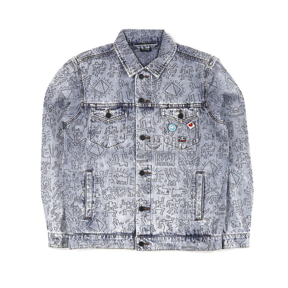 Diamond Supply Co. X Keith Haring Unity Denim Jacket Limited Edition